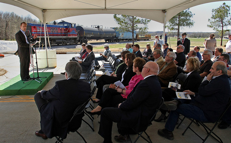 Wednesday's dedication of the Port of Catoosa's new widened main entry point.