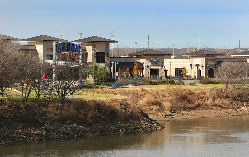 The RiverWalk development along the Arkansas River in Jenks.