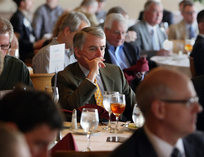 Dan Schooley of Laredo Petroleum is lost in thought at the Oklahoma Independent Petroleum Association Wildcatters Luncheon in Tulsa.