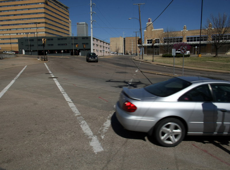 Construction to convert the downtown Tulsa intersection of 10th street and Elgin into a traffic circle will begin soon.