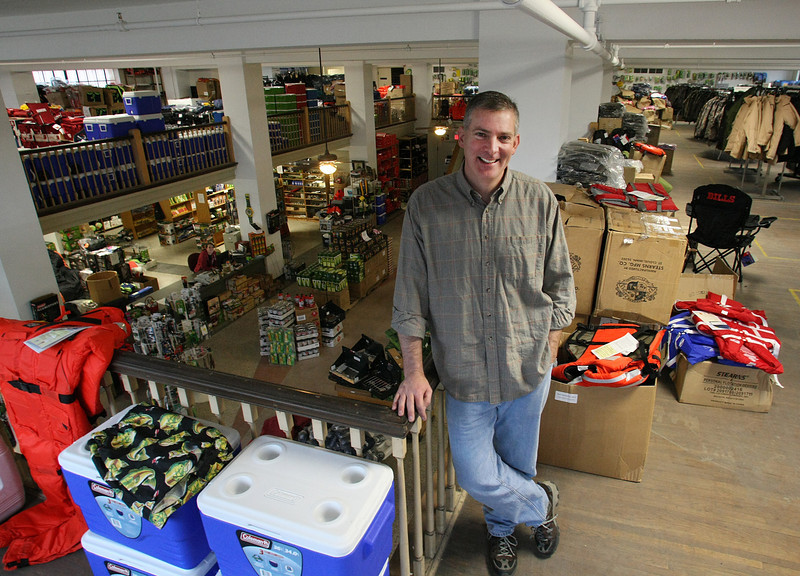 Mike Lassman, Owner of Just Camp, in his store near downtown Tulsa.