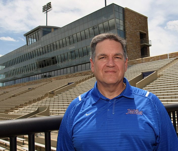 University of Tulsa Head Football Coach Bill Blankenship.