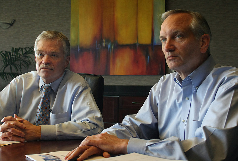 President and CEO of Semgroup Norm Szydlowski and CFO Bob Fitzgerald at the companies South Tulsa Headquarters.