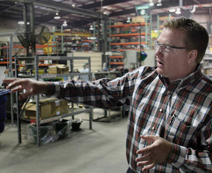 Nelson Head, General Manager of Enardo LLC, in the companies Tulsa Manufacturing facility.