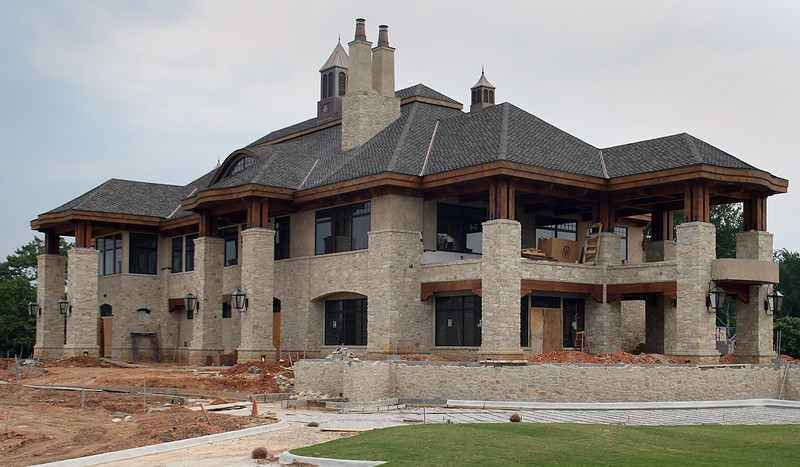 The new clubhouse at the Shangri-la resort is nearing completion and is due to open over the Memorial Day weekend.