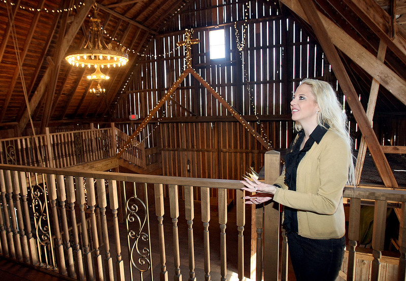 Rachel Odom with Rosebrook Vineyards shows the event barn on the property Wednesday. PHOTO BY MAIKE SABOLICH