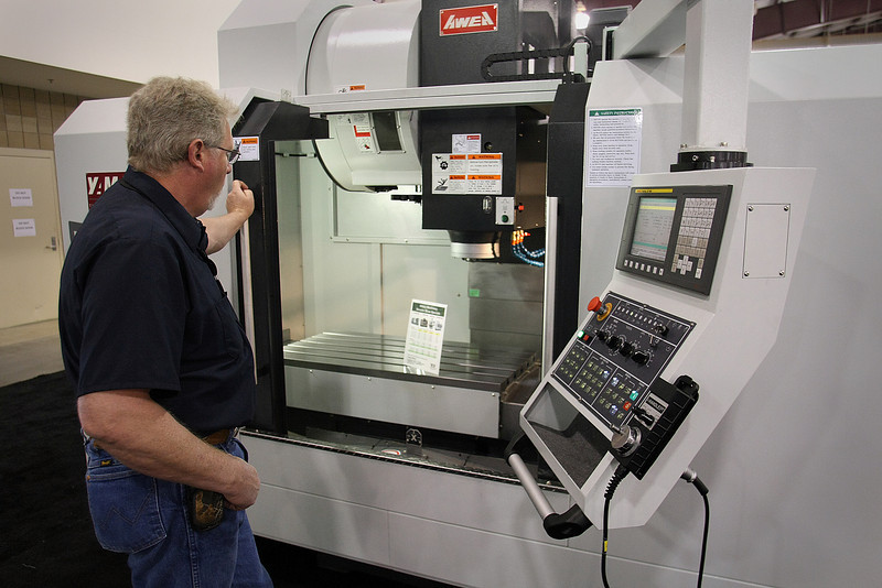 Nick Parkinson of Hillary Machinery puts a CNC machine through it's paces.