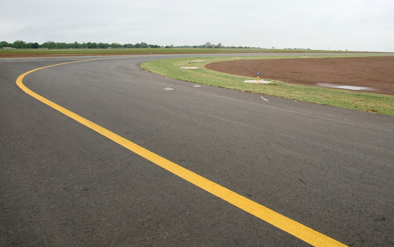 Newly paved taxiways at Shawnee Airport. PHOTO BY MAIKE SABOLICH