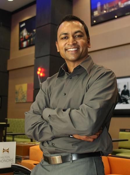 Andy Patel, President, Anish Hotels Group at his new Tulsa hotel, the Hampton inn Tulsa Central.