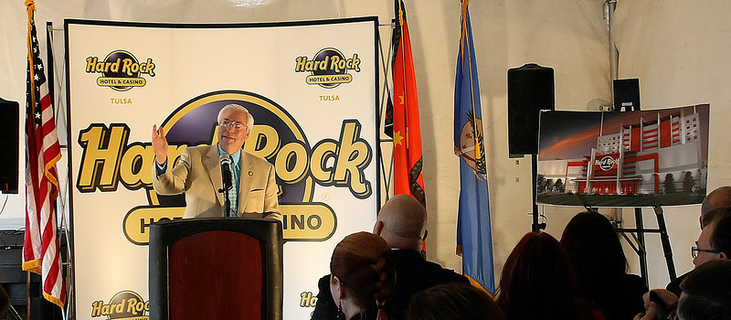 Chief of the Cherokee Nation Bill John Baker at the groundbreaking of an expansion of the Hard Rock Casino in Catoosa.