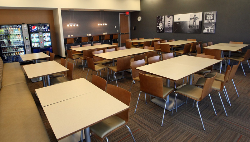 The cafeteria of the new headquarters of Blue Cross Blue Shield in downtown Tulsa.