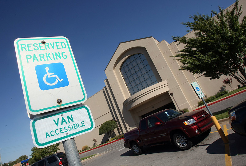 Handicapped parking at Penn Square Mall. PHOTO BY MAIKE SABOLICH