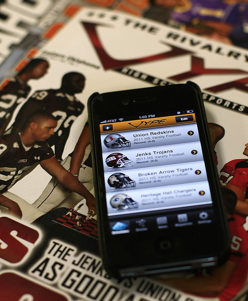 Vype Magazines new IPhone app which allows users to check on every high school game in the state.