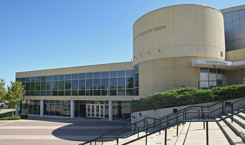 The exterior of the Donald W. Reynolds Center on the University of Tulsa campus.