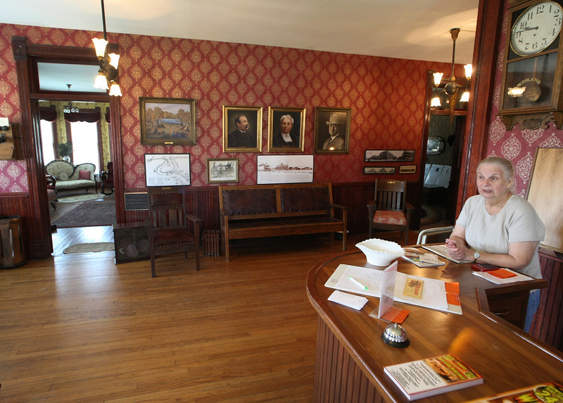 The main room of the Dewey Hotel and Museum.