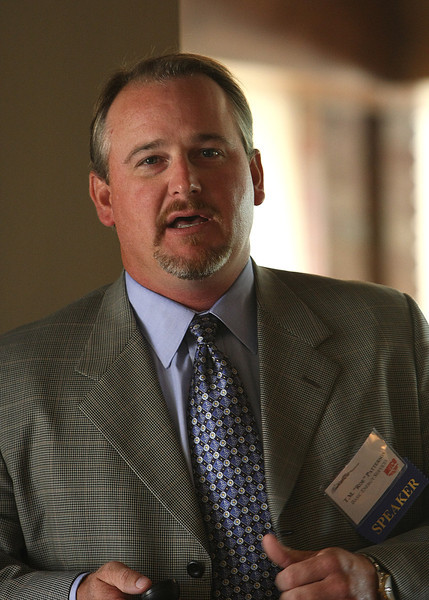 Thomas M. 'Roe' Patterson, COO of Midland, Texas-based Basic Energy Services LLC, addressed about 200 people at the Oklahoma Independent Petroleum Association Wildcatter luncheon at the Tulsa Country Club on Wednesday.