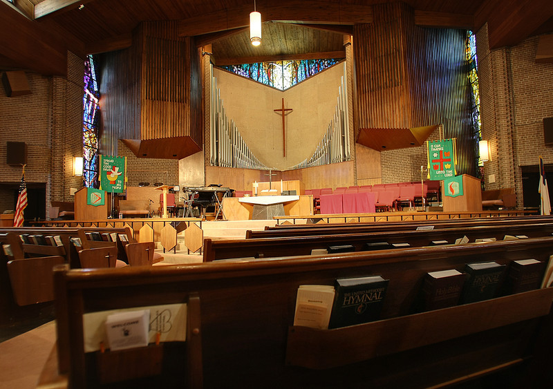 The Sanctuary of the Christ United Methodist Church in Tulsa.