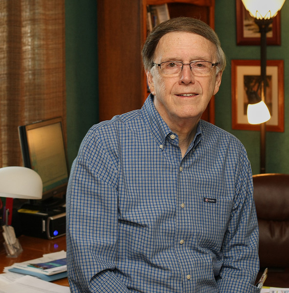Dr. Robert D. Pierson, Executive Director of Leadership Nexus at his office in Tulsa.