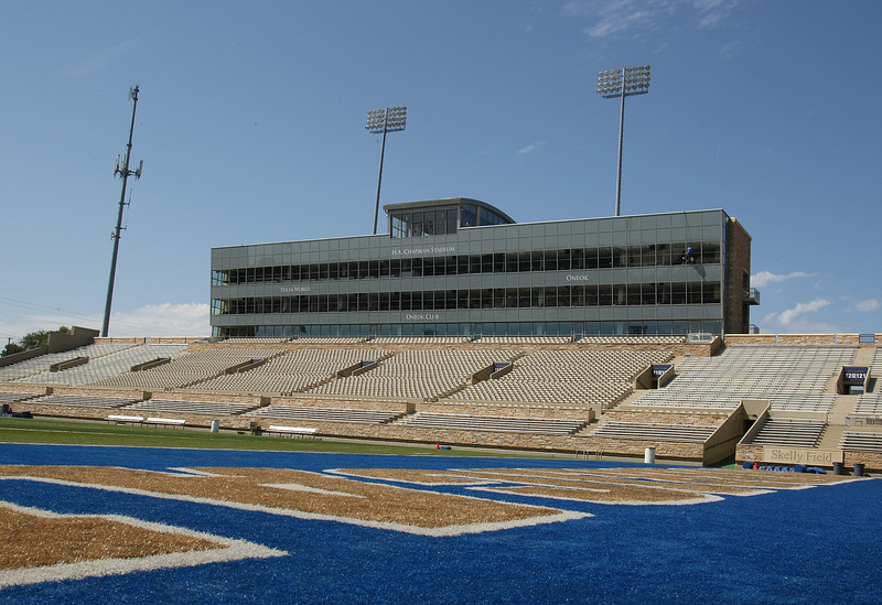 The West stands at the University of Tulsa.