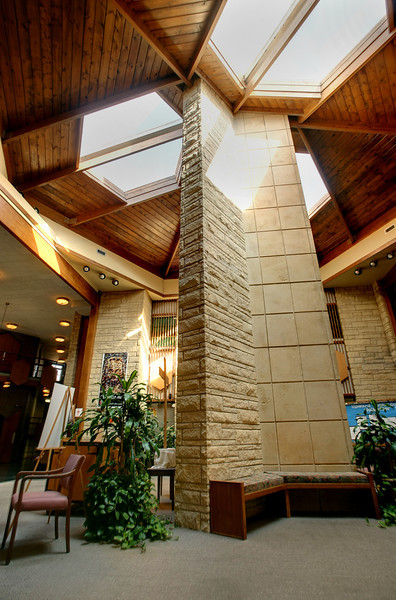 The atrium of the Christ United Methodist Church in Tulsa.