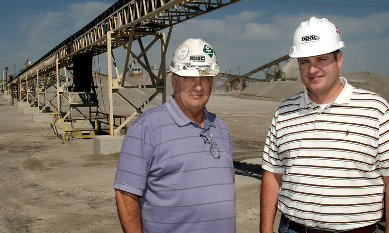 Tommy Harris and XXXX at the APAC Asphalt plant in East Tulsa.