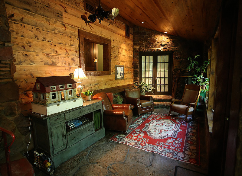 The Den of the Cedar Rack Bed and Breakfast in West Tulsa.