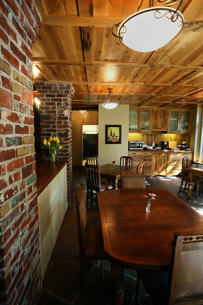 The Dining Room of the Cedar Rack Bed and Breakfast in West Tulsa.