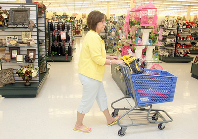 Robyn Ellison shops at Hobby Lobby in Edmond on Broadway and 33rd Wednesday. PHOTO BY MAIKE SABOLICH