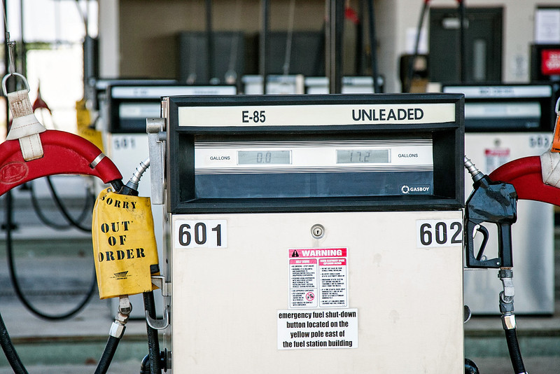 A fuel tank at a refueling station, owned by OU, will soon be dug up due to a leak underground.