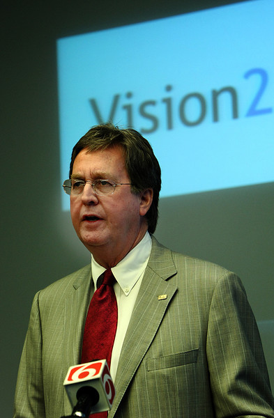 During a Press Conference Tulsa Mayor Dewey Bartlett requests that citizens of tulsa comment on projects for inclusion in the Vision 2 tax.