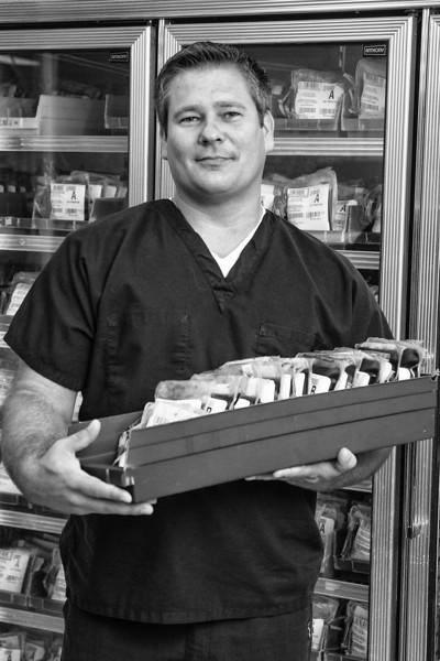 Paul Martin, Logistict Cordinator for the Oklahoma Blood Institute