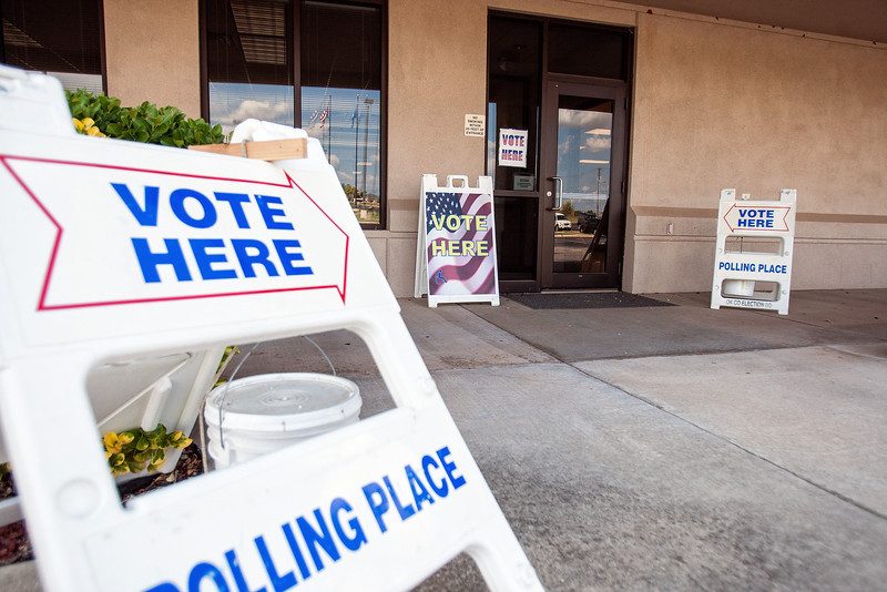 Early voting was held at the Oklahoma County Election Board on Monday.