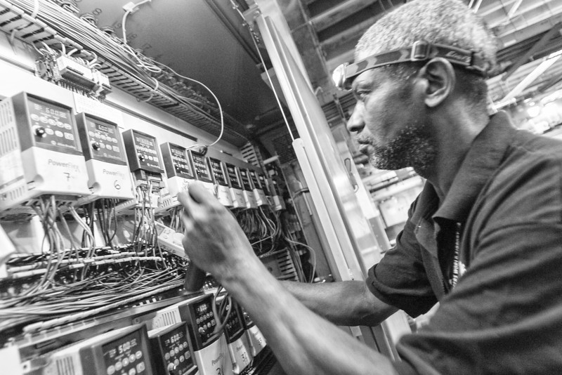 Regginald Dotson is an electrician at Will Rodgers World Airport. Reggie, as he is known, can be found just about anywhere in the airport where equipment needs his attention.