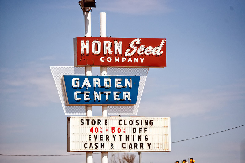 Horn Seed Company at Classen and Northwest Expressway will soon be closing it's doors.