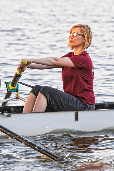 Pam Wilson joins the OU Medical rowing team Tuesday mornings before dawn.