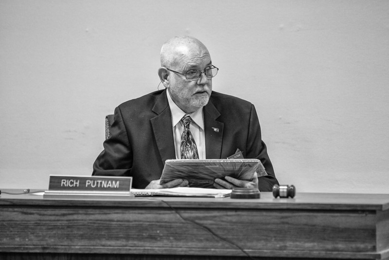 With the absence of Martha Spear, Rich Putnam oversaw Tuesday's War Veterns Commision meeting at the ODVA.