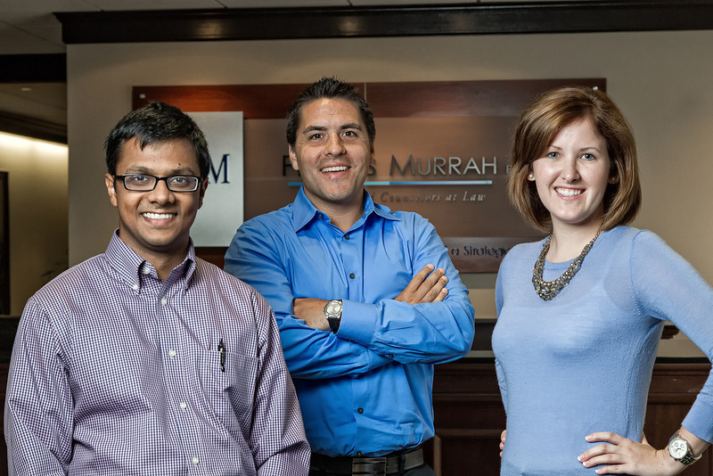 Harsha Seka, Victor Stacy and Liz Knox are interns for Phillips Murrah, a law firm located in downtow Oklahoma CIty.