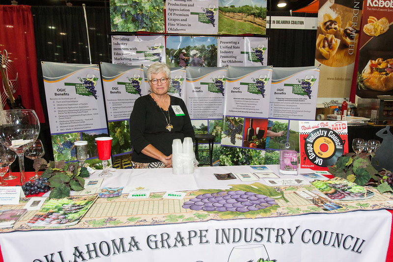 Jill Stichler, with the Oklahoma Grape Industry Council, at the Oklahoma Resturaunt Convention and Expo.