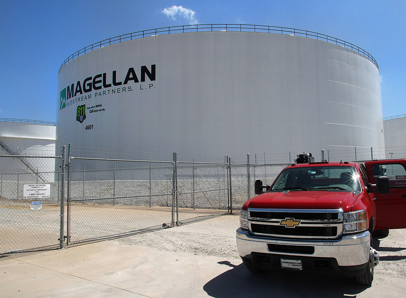 Magellan Midstream storage tanks near the Holly Refinery in Tulsa.