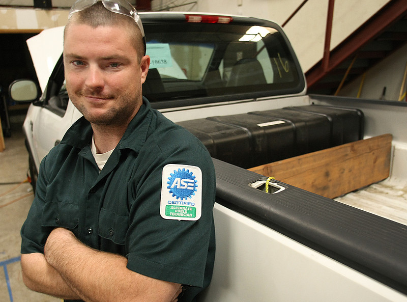 Tony Griffith, Fleet Specialist with CNG Auto Repair and Conversions in Tulsa.