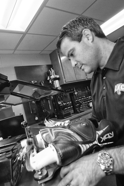 Josh Evens is the equipment manager for the Oklahoma City Barons.