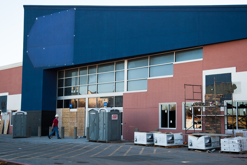 The old Best Buy location at Crossroads Mall is under construction and will soon be used by Hearitage Collage.