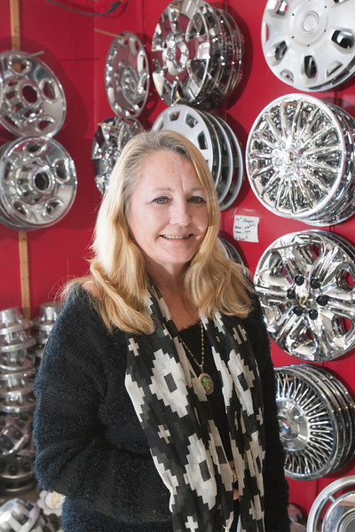 Sandra Mullins, owner of Hubcap World on NW 10th.