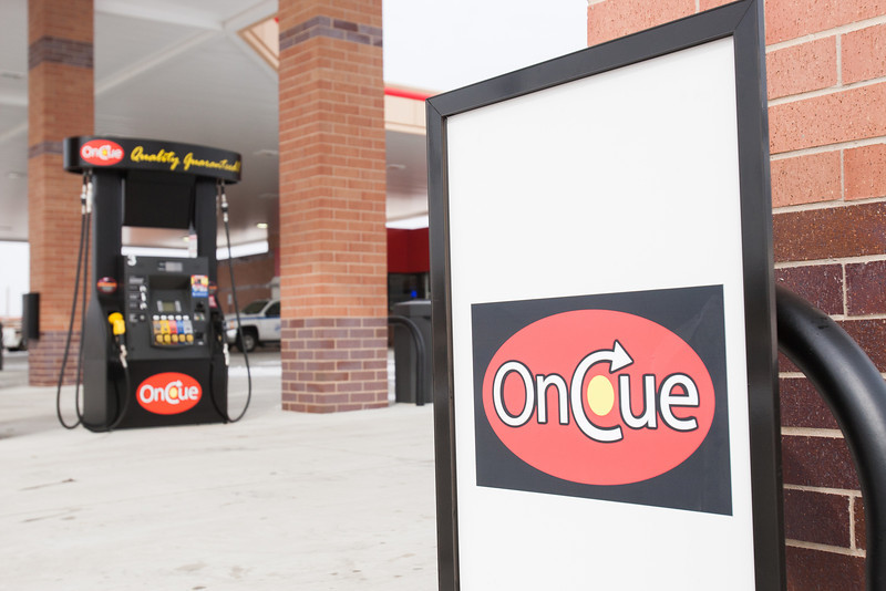 The new OnCue gas station at the corner of Highway 77 and Flood in Norman, OK.