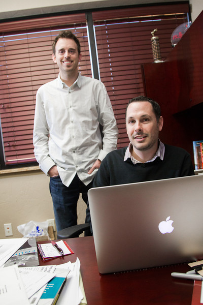 Josh Wright and Greg Starling, creators of BuzzAM