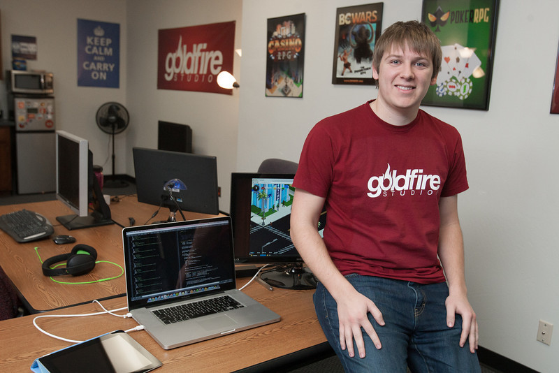 James Simpson, founder & CEO of Goldfire Studios. His company produces Goldfire produces web based games.