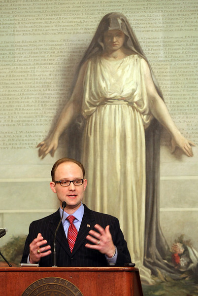 Democratic Minority Leader Scott Inman. PHOTO BY MAIKE SABOLICH