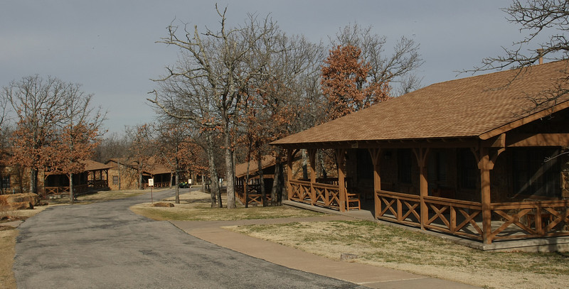 Guest Cottages at the Post Oak Lodge in Tulsa.