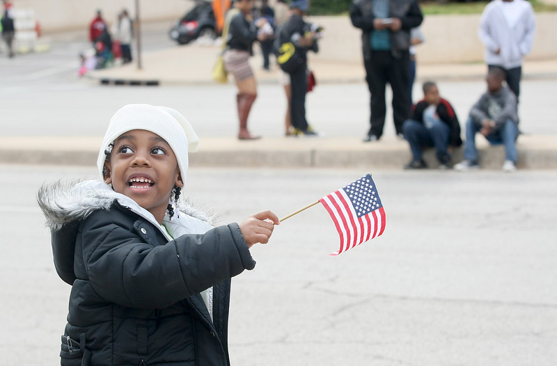 Chalyse Green is excited for the Martin Luther King Jr. parade to start Monday. PHOTO BY MAIKE SABOLICH