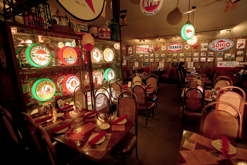 The main dining room of the Spudder Steak House in Tulsa.